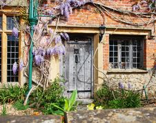 Free Wooden Door To An English Village Cottage Stock Photography - 17415902