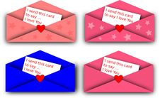 Free Valentine Card Royalty Free Stock Photos - 17416158