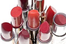 Free Group Of Lipsticks Stock Image - 17416241