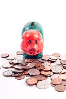 Free Mini Piggy Bank Royalty Free Stock Photography - 17416507