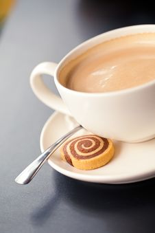 Free French Cappuccino Stock Photography - 17417182