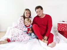 Free Family On Christmas Morning Royalty Free Stock Photo - 17417285