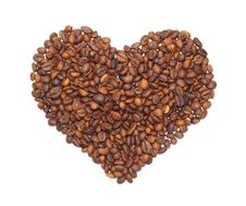 Free Heart From The Corns Of Coffees Royalty Free Stock Photo - 17417685
