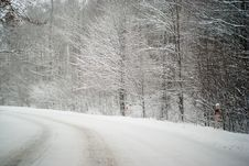 Free Winter Road Royalty Free Stock Image - 17417736