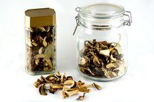 Free Dried Mushrooms In Jar Royalty Free Stock Photos - 17417758