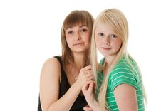 Free Portrait Of Two Friends Stock Photography - 17418042