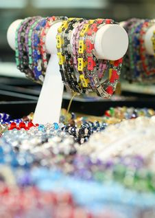 Free Colorful Bracelets On Display Royalty Free Stock Photo - 17418085