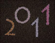 New Years Card 2011 Stock Photo