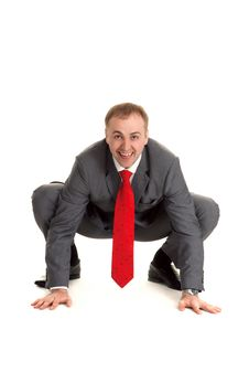Free Man In Gray Suit Stock Photography - 17418392