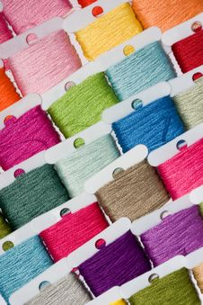 Free Multicoloured Cotton Threads Royalty Free Stock Image - 17418436