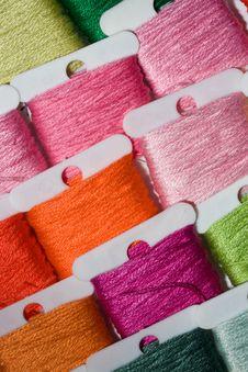 Free Multicoloured Cotton Threads Stock Photo - 17418490