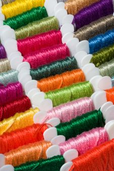 Free Multicoloured Cotton Threads Stock Images - 17418524