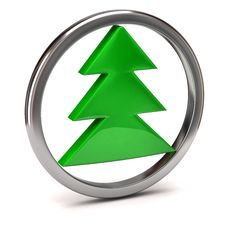 Free Christmas Tree Icon Royalty Free Stock Photo - 17419725