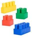 Free Colorful Plastic Bricks Isolated On White Royalty Free Stock Photos - 17423478