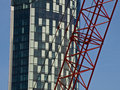 Free Modern Building And Red Crane Liverpool Stock Photos - 17427353