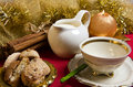 Free Milk And Cookies On Christmas Morning Royalty Free Stock Photo - 17429085