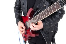 Free Rocker Playing Guitar Royalty Free Stock Photos - 17420108