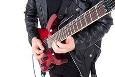 Free Rocker Playing Guitar Royalty Free Stock Photos - 17420108