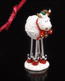 Christmas Ornament Cow Royalty Free Stock Photos
