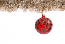 Red And Gold Christmas Ball Royalty Free Stock Photo
