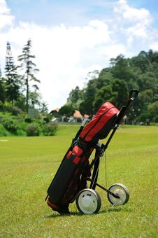 Free Golf Set On Green Royalty Free Stock Image - 17420326