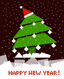 Free Cubic Christmas Tree Royalty Free Stock Photography - 17420907