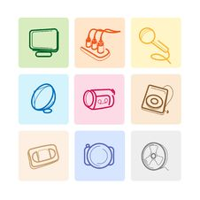 Free Media Icons Stock Image - 17420961