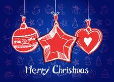 Free Happy Christmas Card Stock Photos - 17421003