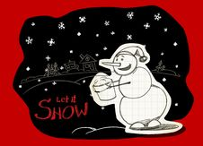Free Let It Snow! Royalty Free Stock Images - 17421019