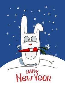 Free NY Rabbit Royalty Free Stock Images - 17421039