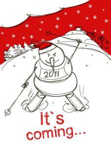 Free Snowman Stock Photo - 17421040