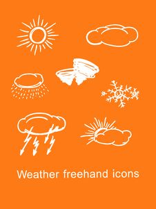 Free Weather Icons Royalty Free Stock Images - 17421189