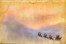 Free Santa Claus On Old Paper Texture Stock Photos - 17422133