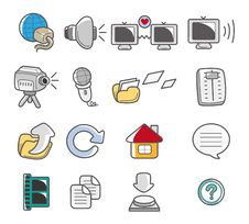 Free Cartoon Web Icon Stock Photos - 17422193