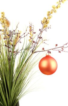 Free Grass With Christmas Decoration. Royalty Free Stock Photos - 17422308