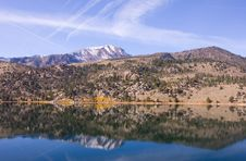 Free Scenic View Of A Mountain And Lake With Reflection Stock Photography - 17422532
