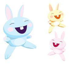 Free Cute Cartoon Rabbit Royalty Free Stock Photography - 17423287
