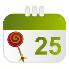 Free Christmas Calendar Icon Stock Photo - 17423990
