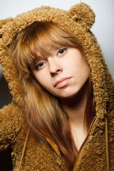Free Red-bearded Winter Sweater Woman Royalty Free Stock Photos - 17424398