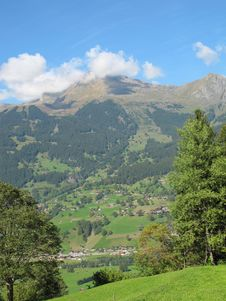 Free Village View At Jungefrau , Switzerland Stock Image - 17424611