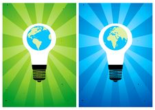 Free Bulb And Globe Royalty Free Stock Photos - 17425068