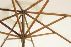 Free White Beach Umbrella Stock Photo - 17425290