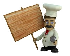 The Cook With The Tablet Stock Image