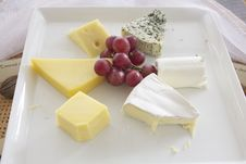 Free Assorted Cheese On Plate Royalty Free Stock Photo - 17425305