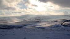 Free Denbigh Moors In Snow. Royalty Free Stock Photography - 17425397