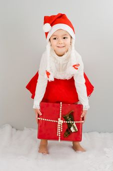 The Child Waits A New Year S Gift Royalty Free Stock Images