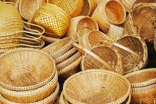 Free Wicker Basket Royalty Free Stock Image - 17426346