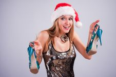 Free Christmas Girl Royalty Free Stock Photography - 17426787