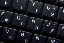 Keyboard Of A Notebook Computer Stock Photography