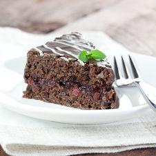 Fresh Chocolate Cake Stock Photo